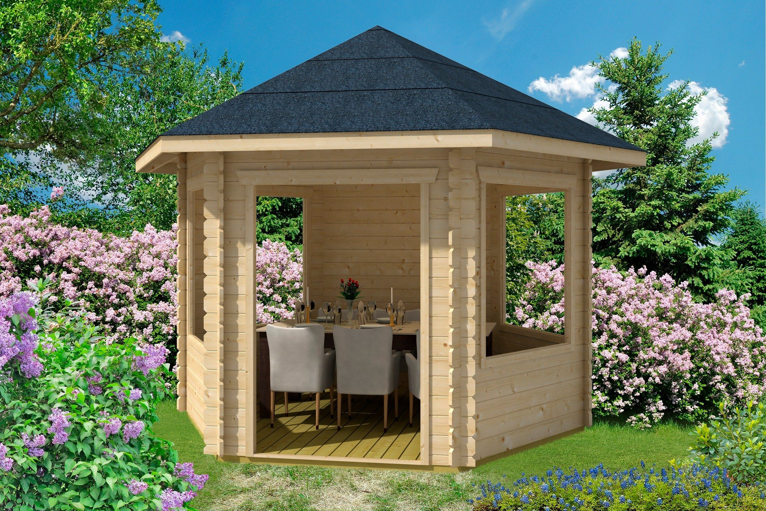 Skanholz Holzpavillon »Madeira 1«, BxT: 350x303 cm