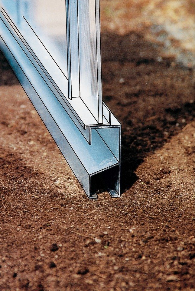 Beckmann Fundamentrahmen, BxT:256x381 cm, aluminiumfarben