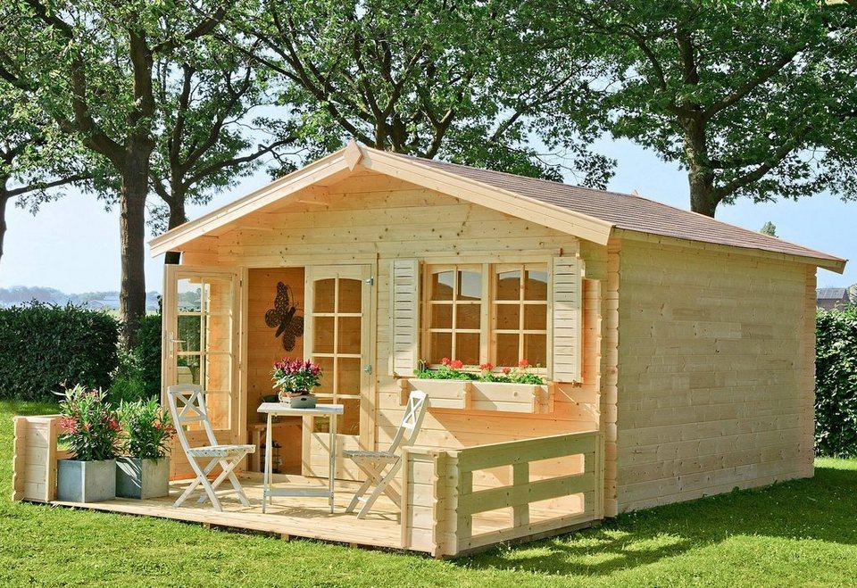Gartenhaus »Montana 1«, BxT: 390x390 cm in natur