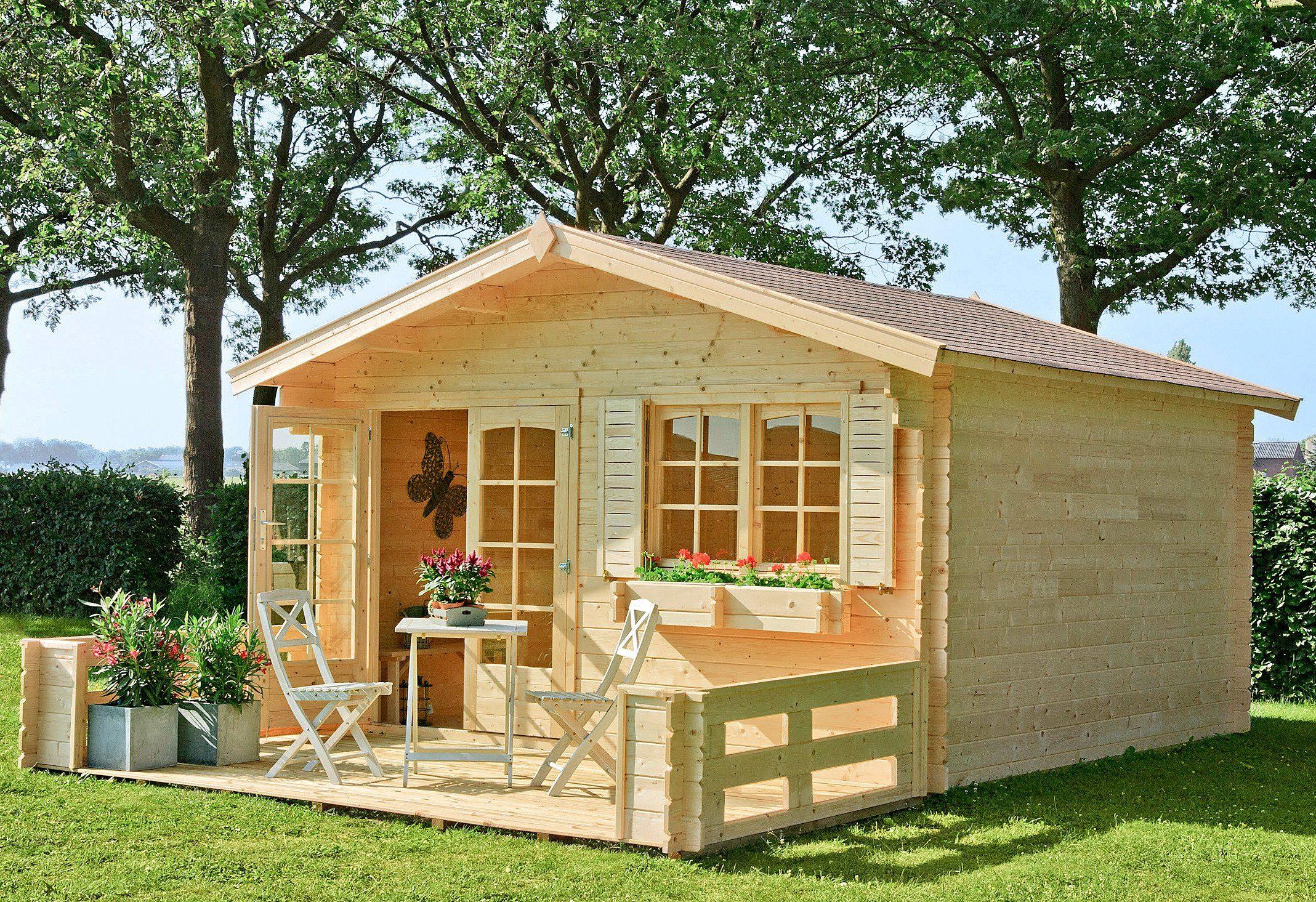 OUTDOOR LIFE PRODUCTS Gartenhaus »Montana 1«, BxT: 390x390 cm, 34 mm