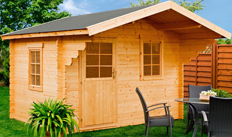 LUOMAN Gartenhaus »Lillevilla 18-0 «, BxT: 350x373 cm, inkl. Vordach und Fußboden