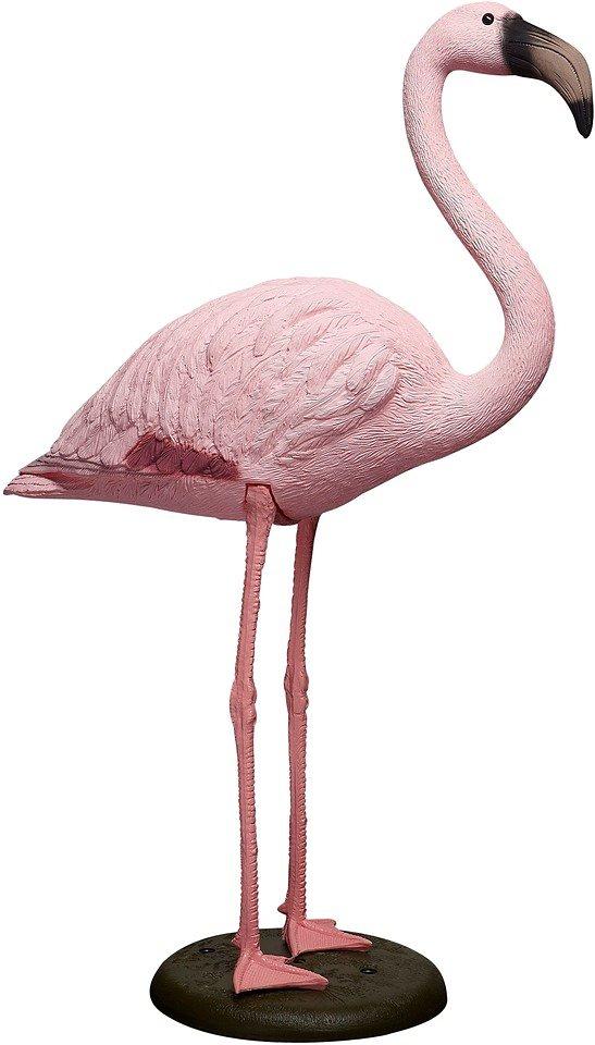 Teichfigur »Flamingo« in rosa