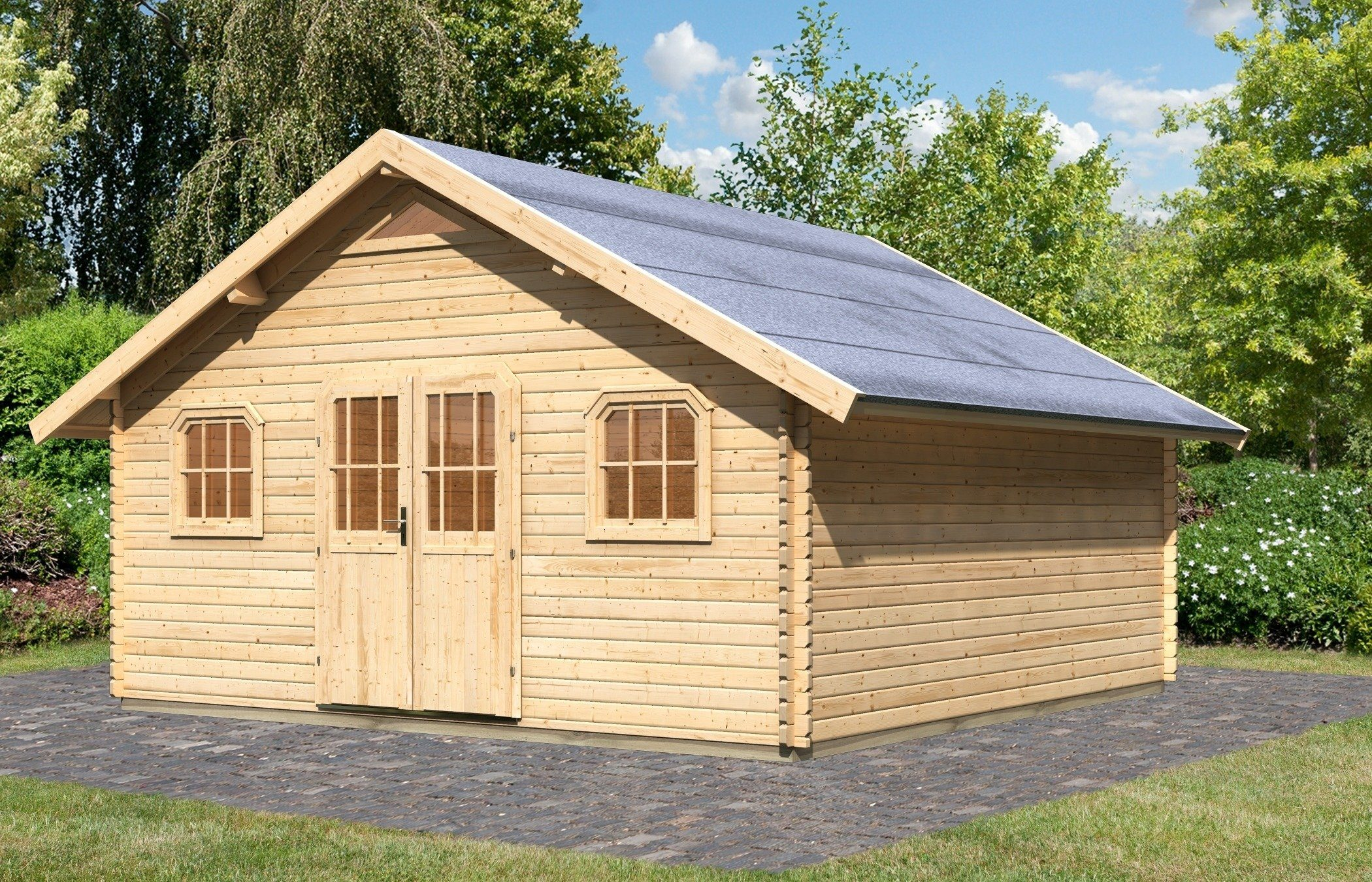 Karibu Gartenhaus »Girion 6«, BxT: 492x492 cm