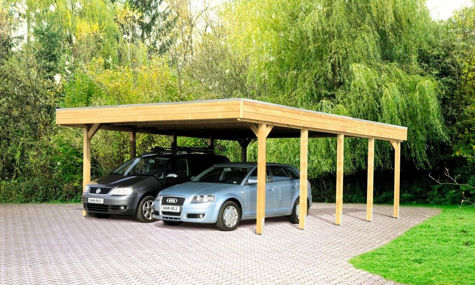 skanholz set doppelcarport friesland mit abstellraum und aluminium dachplatten online kaufen. Black Bedroom Furniture Sets. Home Design Ideas
