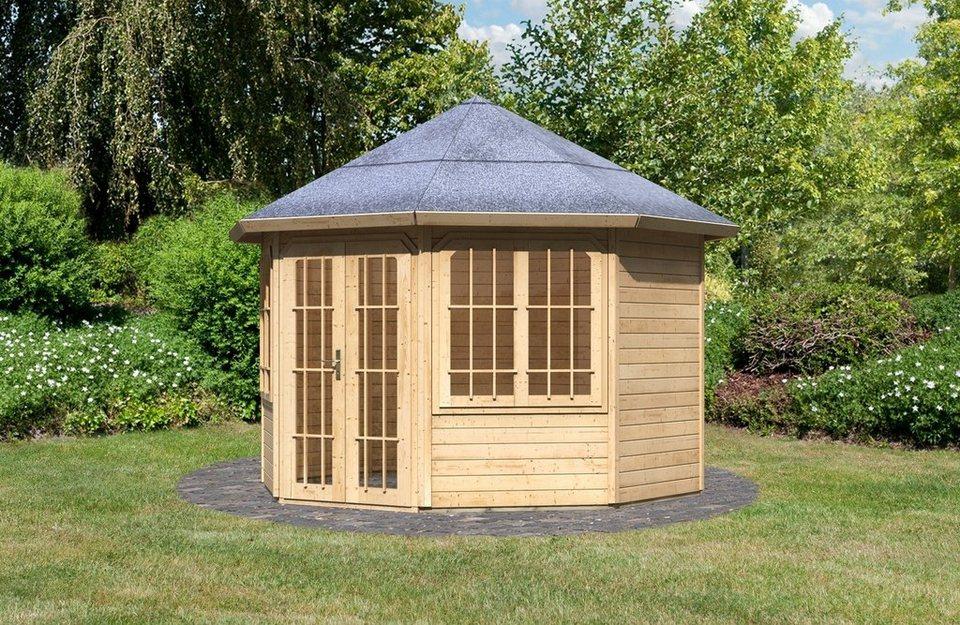 Holzpavillon »Rimini« in natur
