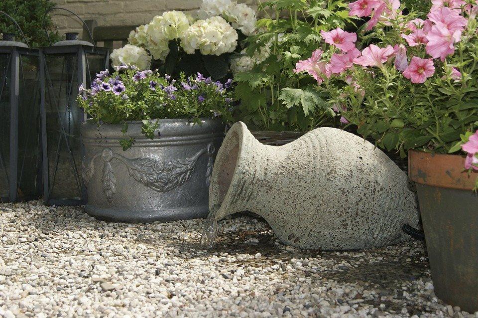 Set: Gartenbrunnen »Larissa« (4-tlg.)  in natur