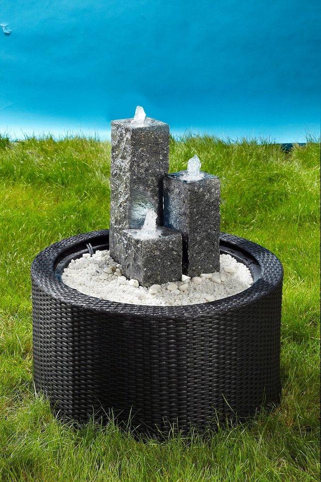 Brunnenumrandung »DecoWall Wicker 1« in grau