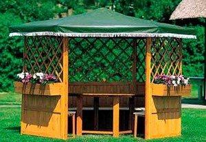 Promadino Set: Pavillon-Set »Marburg« in braun