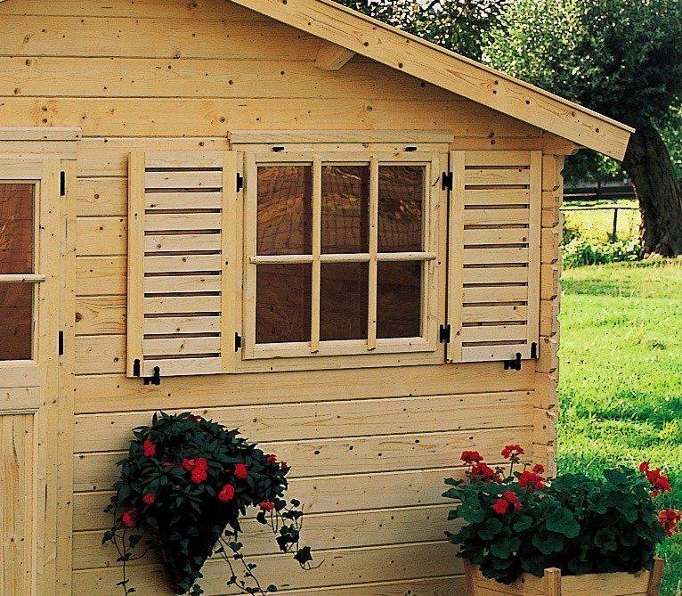 OUTDOOR LIFE PRODUCTS Fensterladen , BxH: 85x90 cm, für Gouderak-Produkte in Natur