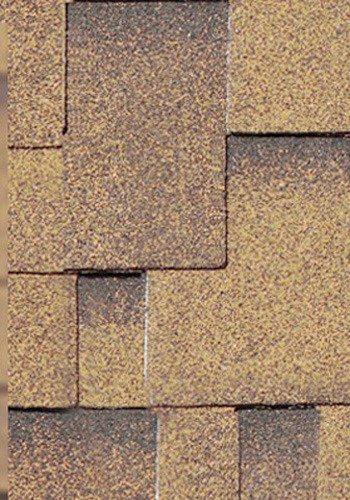 Asymmetrische Dachschindeln in braun