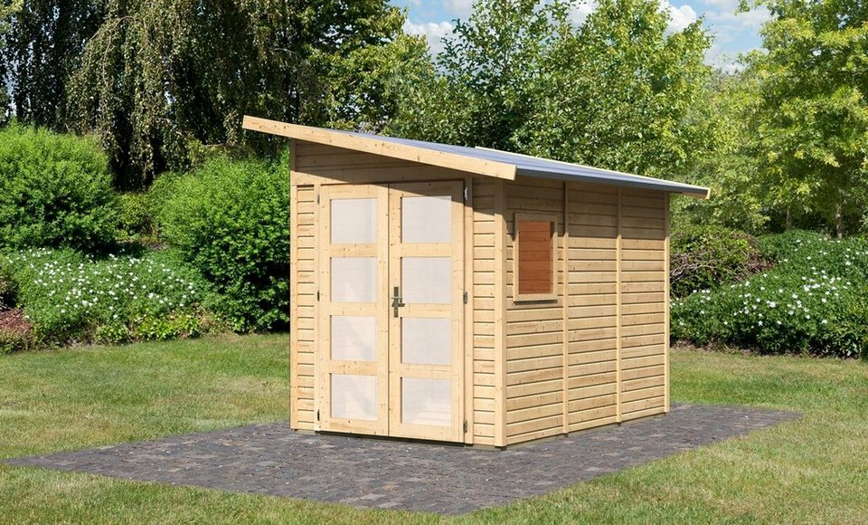 KARIBU Gartenhaus »Teplitz 3«, BxT: 178x265 cm in natur