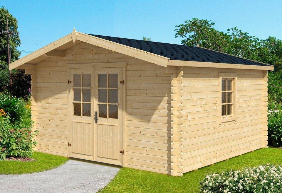nordic holz gartenhaus nienstedten 1 bxt 405x338 cm inkl fu boden online kaufen otto. Black Bedroom Furniture Sets. Home Design Ideas