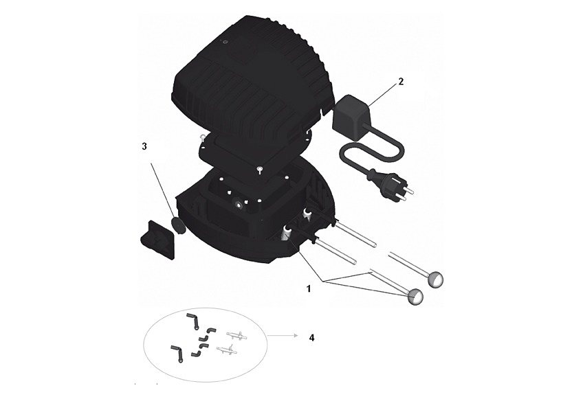 Teichbelüfter »AquaOxy CWS 1000« in schwarz
