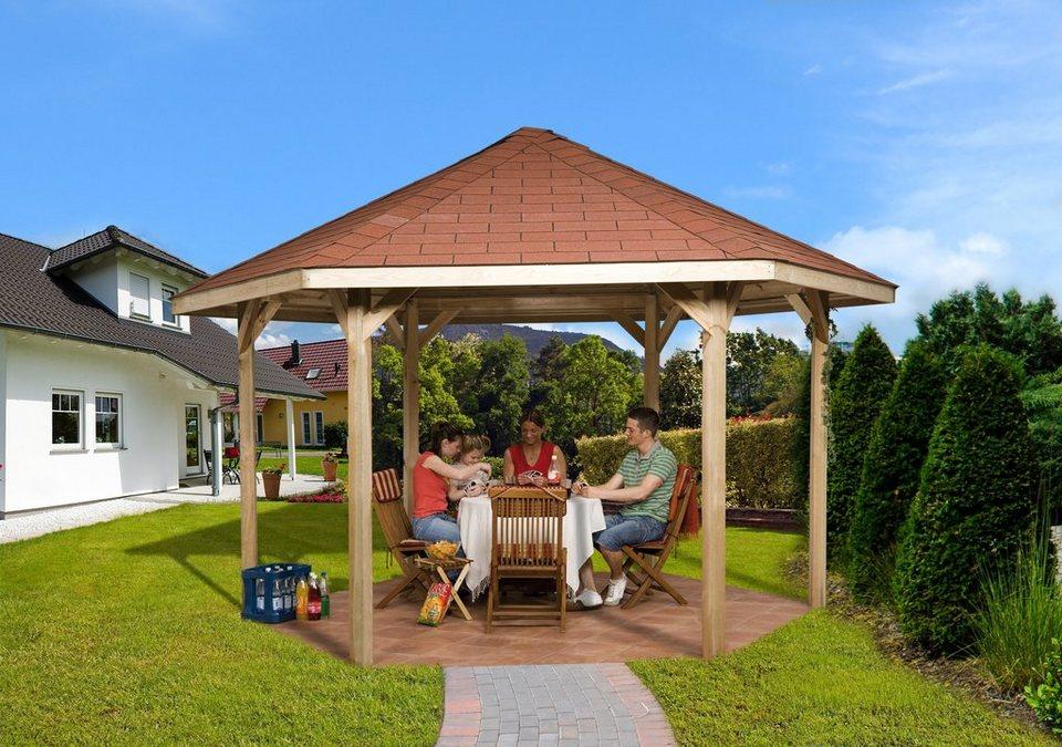 Weka Pavillon-Set in braun