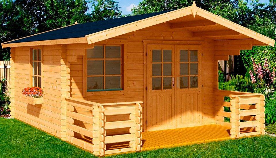 Nordic Holz Set: Gartenhaus »Klingenberg 1 Set«, BxT: 300x450 cm in natur