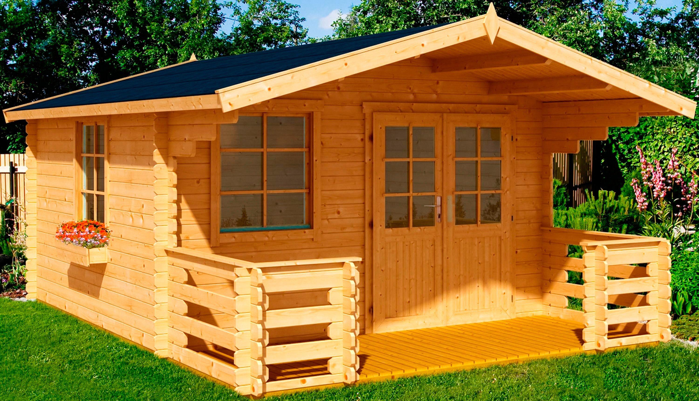 Nordic Holz Set: Gartenhaus »Klingenberg 1 Set«, BxT: 300x450 cm