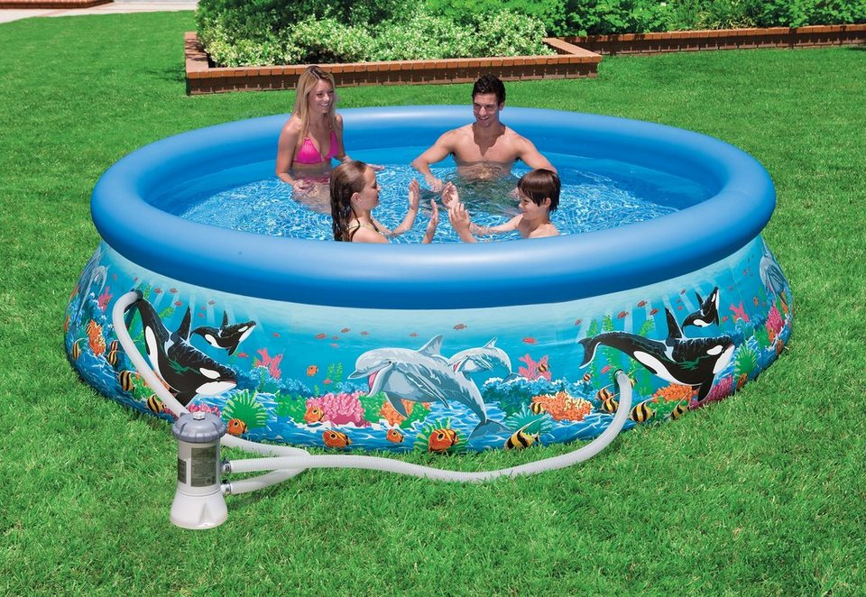 Pool, »Ocean Reef Easy Set Pool-Set«, Intex in mehrfarbig