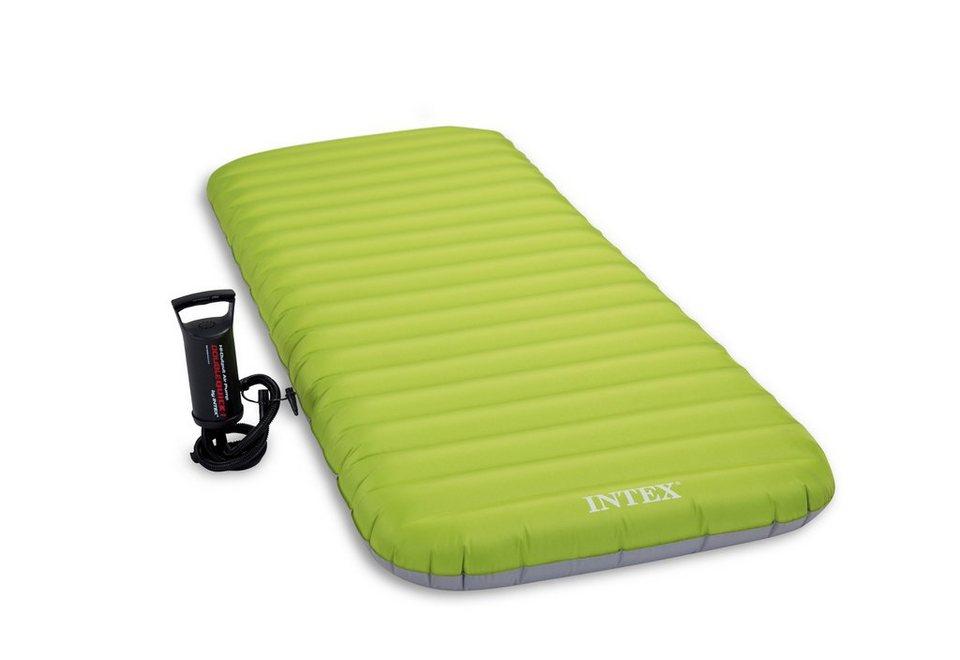 Luftbett, mit Handluftpumpe, »JR. Twin Roll 'N Go Bed «, Intex in grün