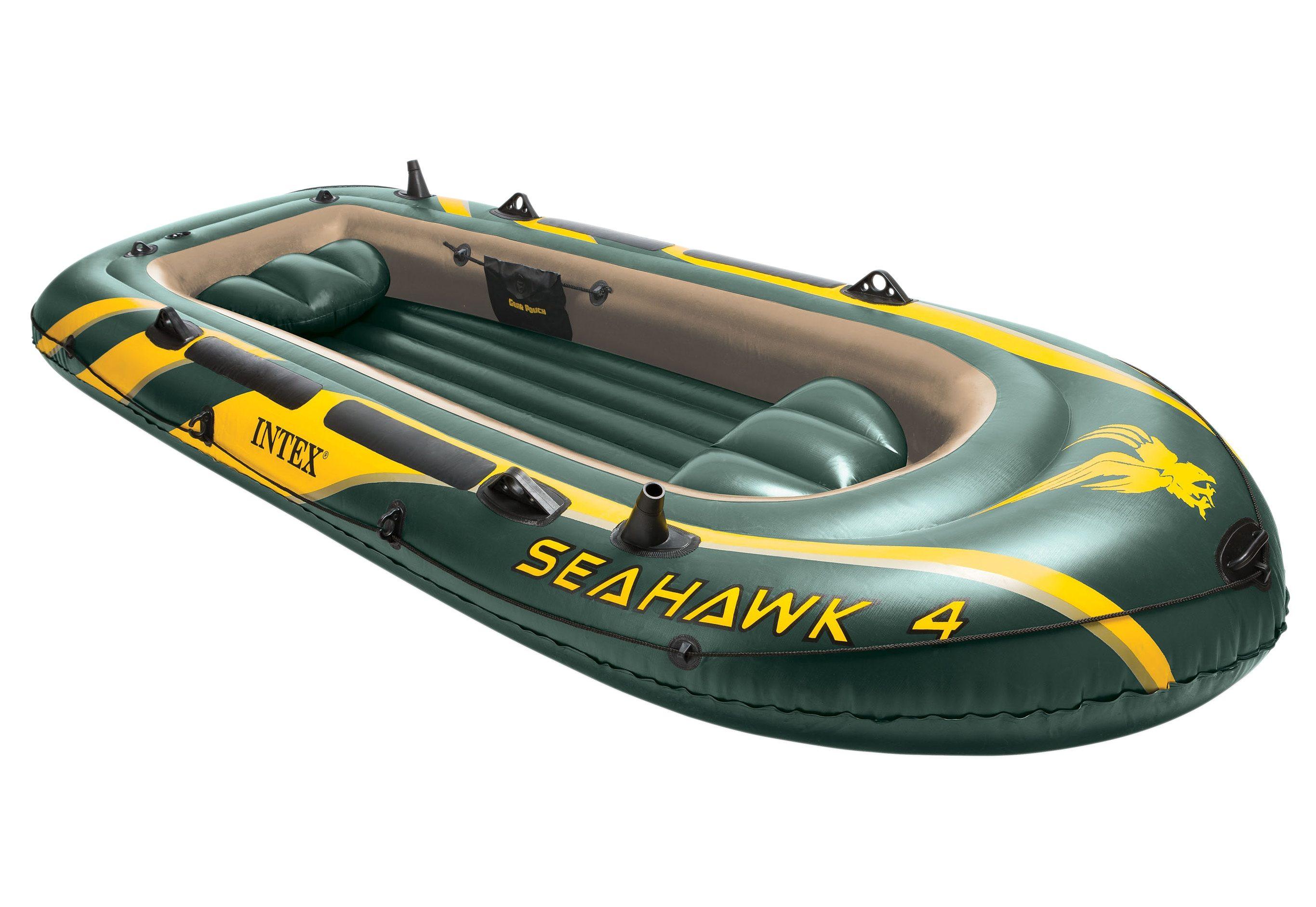 Sportboot-Set, mit 2 Paddeln und Luftpumpe, »Boot-Set Seahawk 4«, Intex