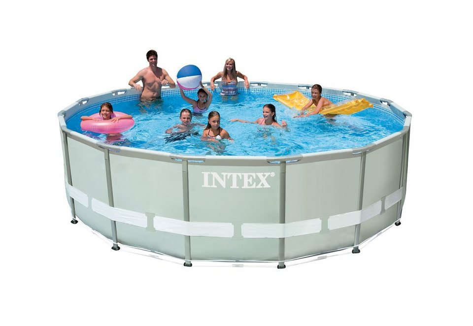Pool set frame pool ultra komplett set intex otto for Pool 457x122 mit sandfilteranlage