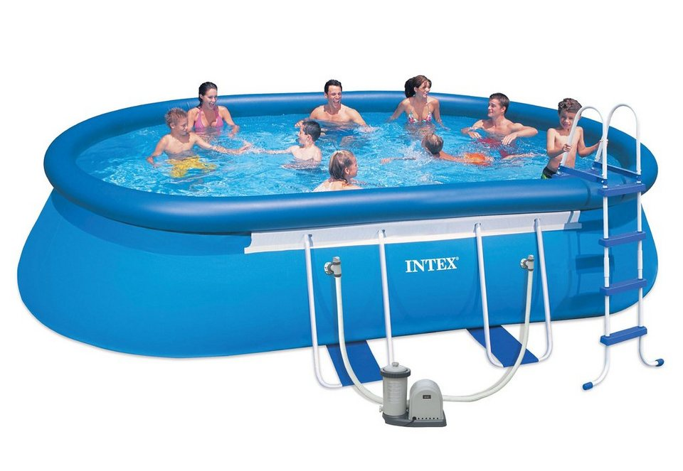 Pool-Set, »Oval Frame Pool Set-Komplettset«, Intex | OTTO