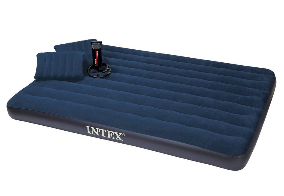 Luftbett, inkl. Kissen und Handluftpumpe, »Classic Downy Bed Queen«, Intex in blau
