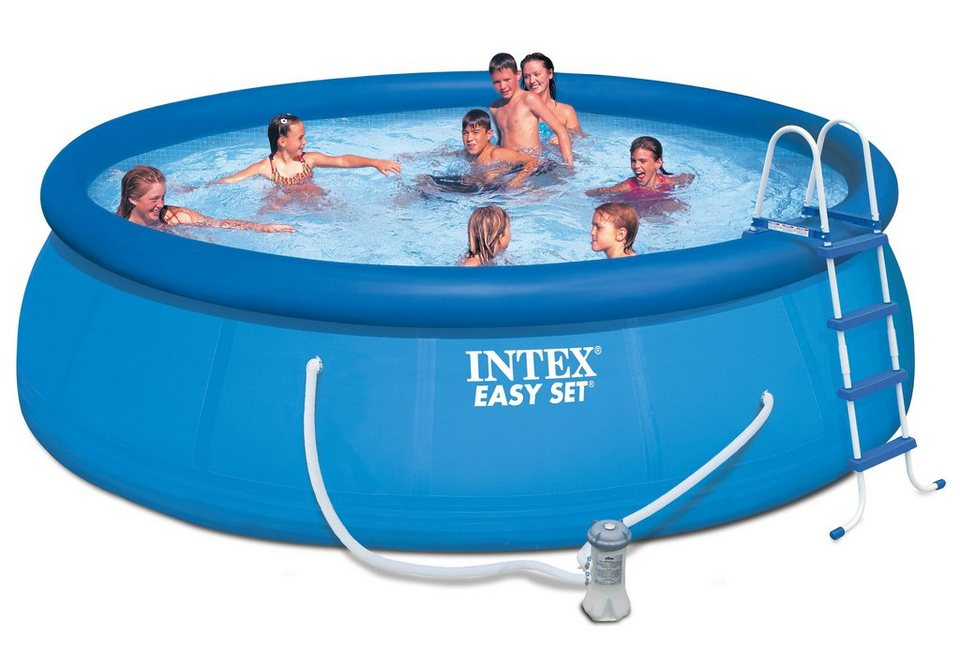 Pool set easy set pool komplettset intex otto for Garten pool intex