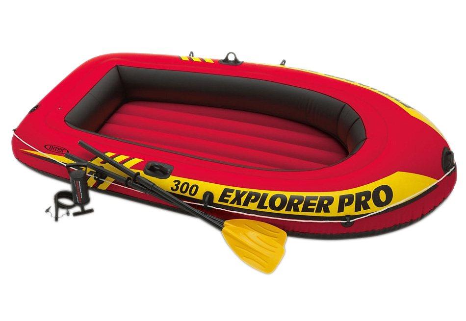Boot-Set, mit Hochleistungspumpe und 2 Paddeln, »Explorer Pro Set«, Intex in orange-schwarz-gelb