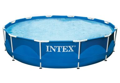 Pool metal frame pool rondo intex kaufen otto for Garten pool intex