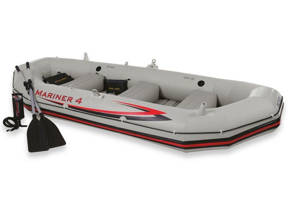 Sportboot-Set, »Boot-Set Mariner 4«, Intex in grau-rot