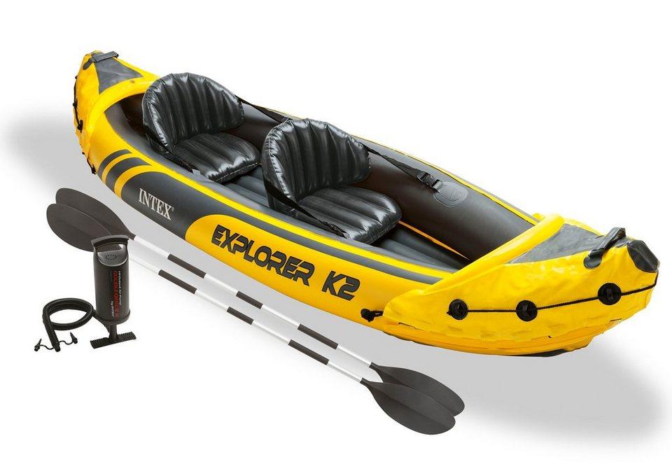 Kajak, »Explorer K2 Set«, Intex in gelb-schwarz