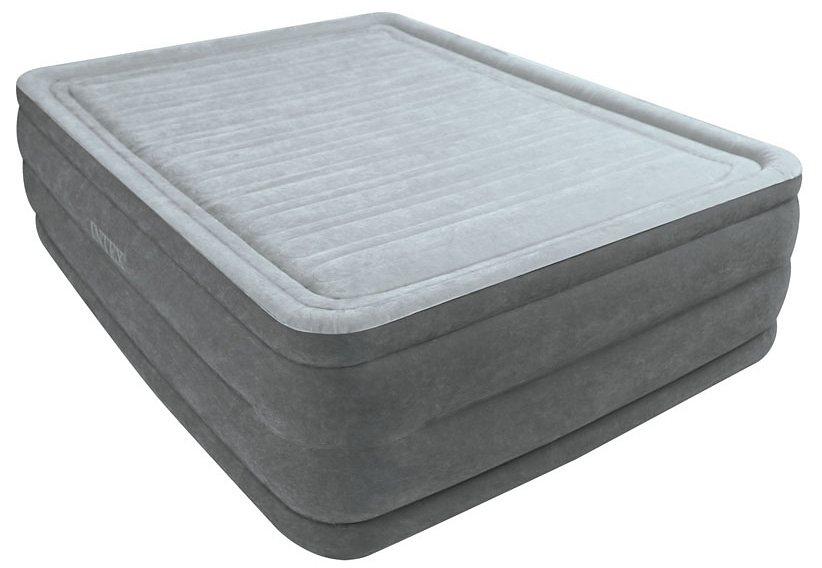 Luftbett, mit integr. Elektropumpe, »Comfort-Plush Elevated Air Kit Queen«, Intex in grau