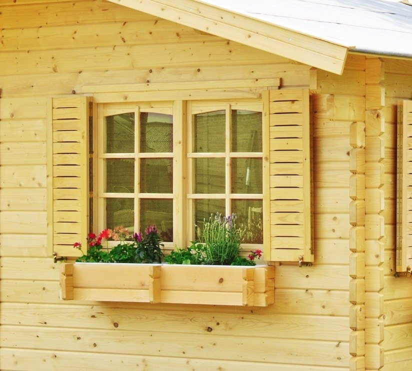 OUTDOOR LIFE PRODUCTS Fensterladen , BxH: 126x87 cm in Natur
