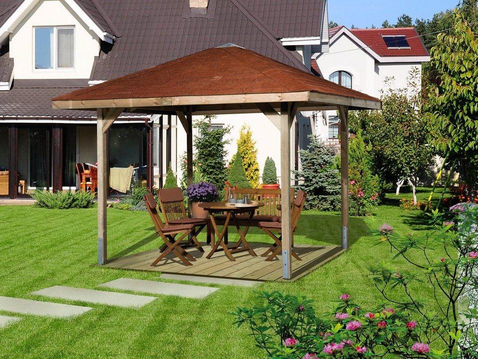 Pavillon-Set »Paradies 1« 3-tlg. Set in braun