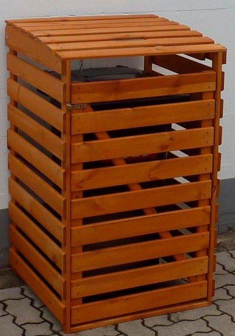 promadino m lltonnenbox f r 1x120 l aus holz b t h 68 63 111 cm online kaufen otto. Black Bedroom Furniture Sets. Home Design Ideas