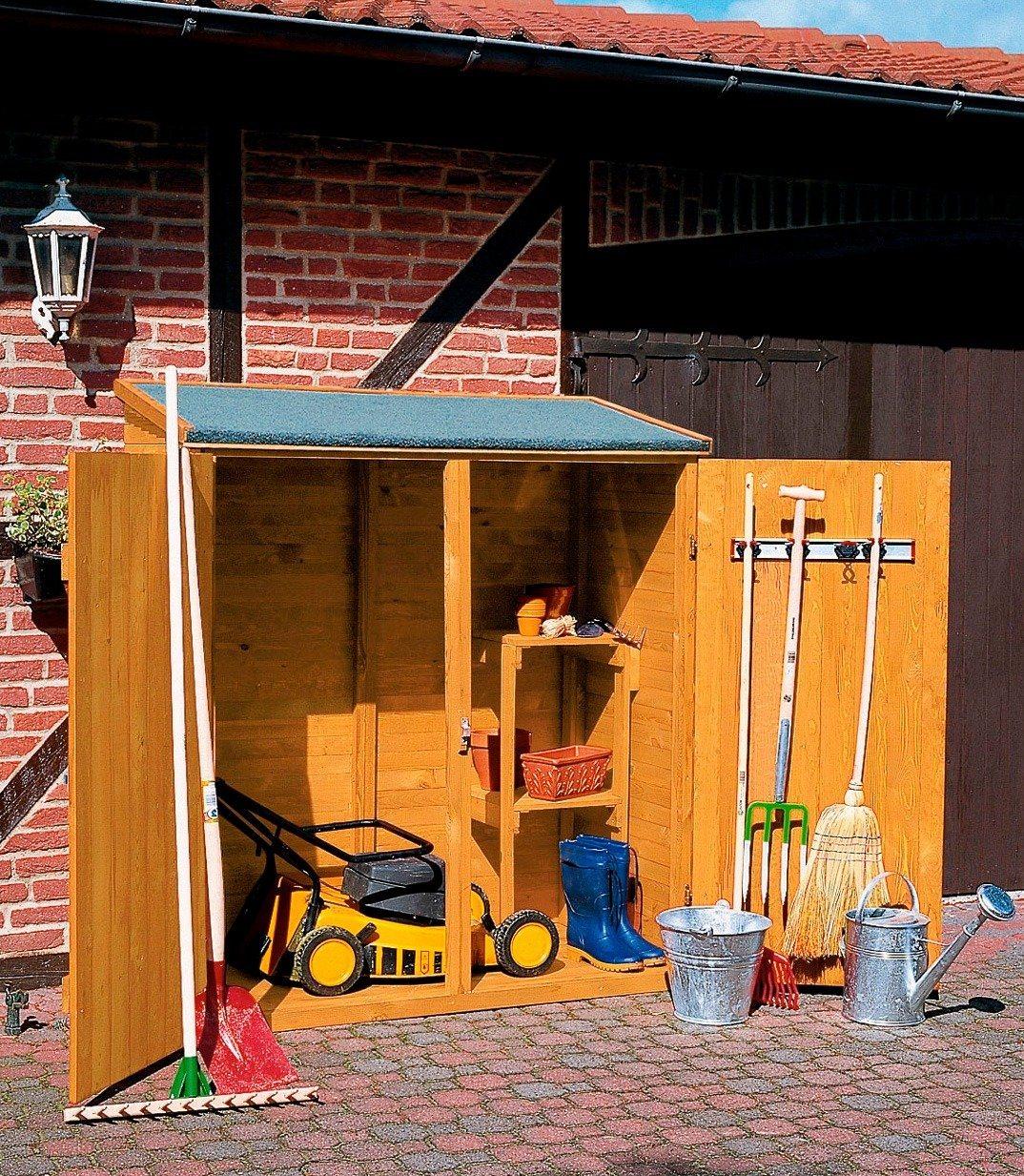 PROMADINO Geräteschrank , B/T/H: 149/77/164 cm | Garten > Gerätehäuser | promadino