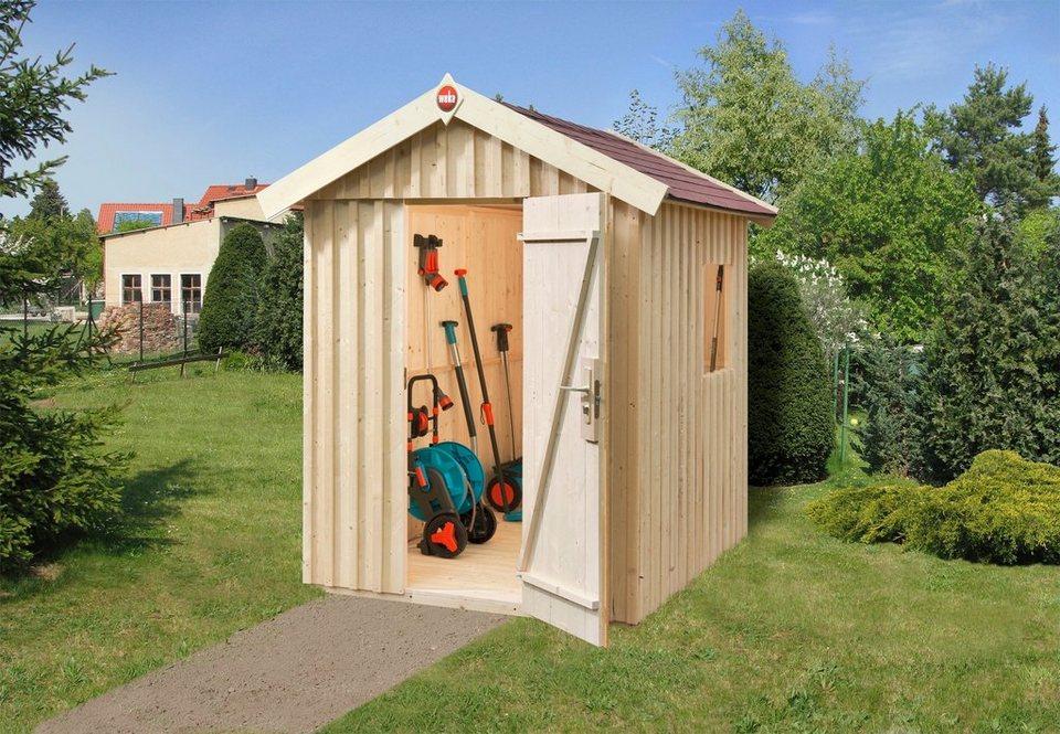 Gartenhaus »Schwedenhaus Gr. 2«, BxT: 162x246cm, inkl. Boden+Dachpappe, in 2 Farben in natur