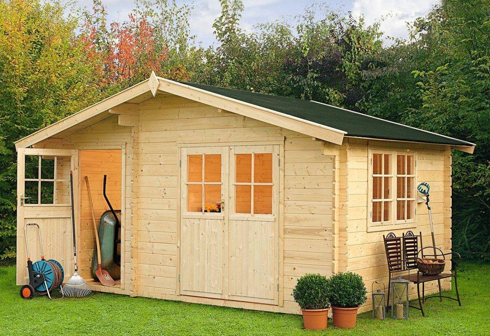 OUTDOOR LIFE PRODUCTS Gartenhaus »Belmont 2«, BxT: 427x280 cm, 34 mm in natur