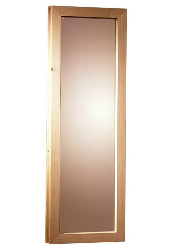 Saunafenster, für 40 mm Sauna, BxH: 42x122 cm in natur