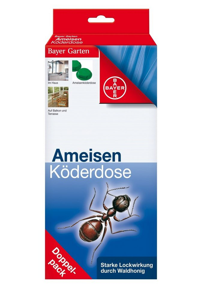 Ameisen Köderdose, 2 Stck. in grün