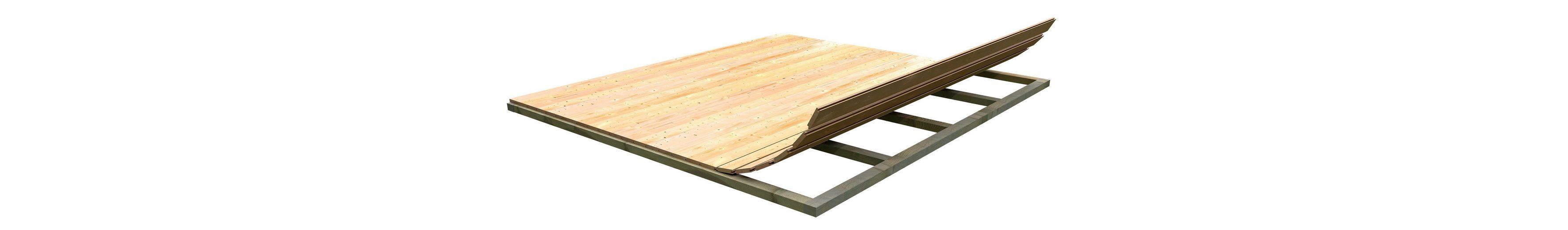 Fußboden für Gartenhäuser, BxT: 370 x 370 cm
