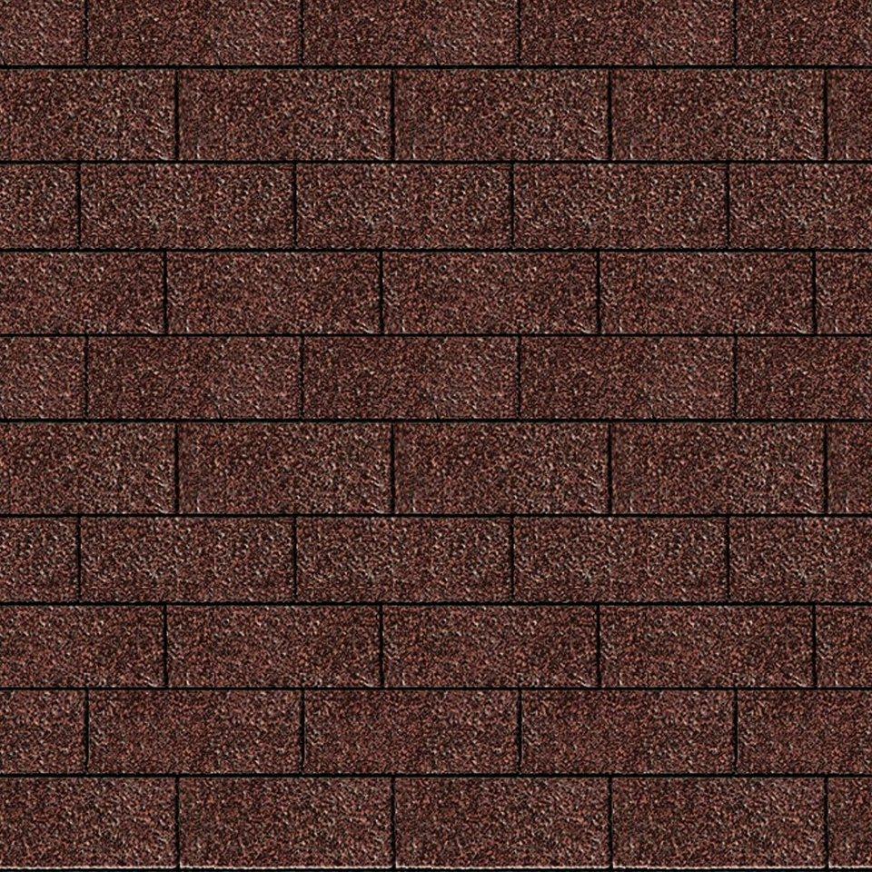 Rechteck-Dachschindeln, rot in rot