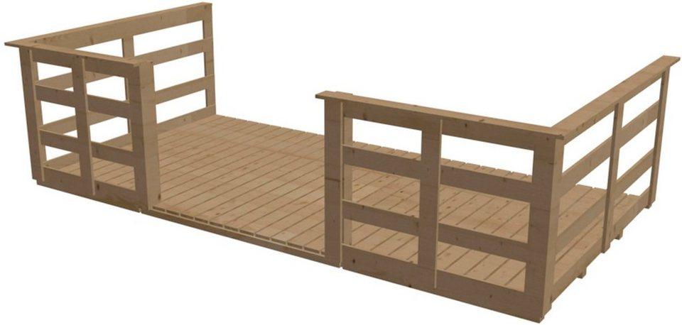 Terrasse, für Hausbreite 340 cm in Natur