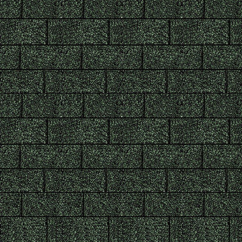 Rechteck-Dachschindeln, grün in grün