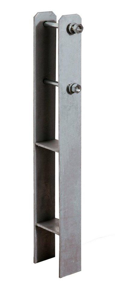 WEKA H-Pfostenanker , für Einzelcarports, Stahl in silberfarben