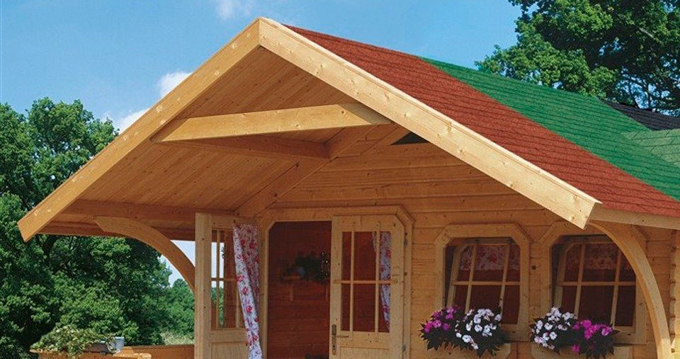 KARIBU Vordach , 180 cm Tiefe, für Karibu-Produkte