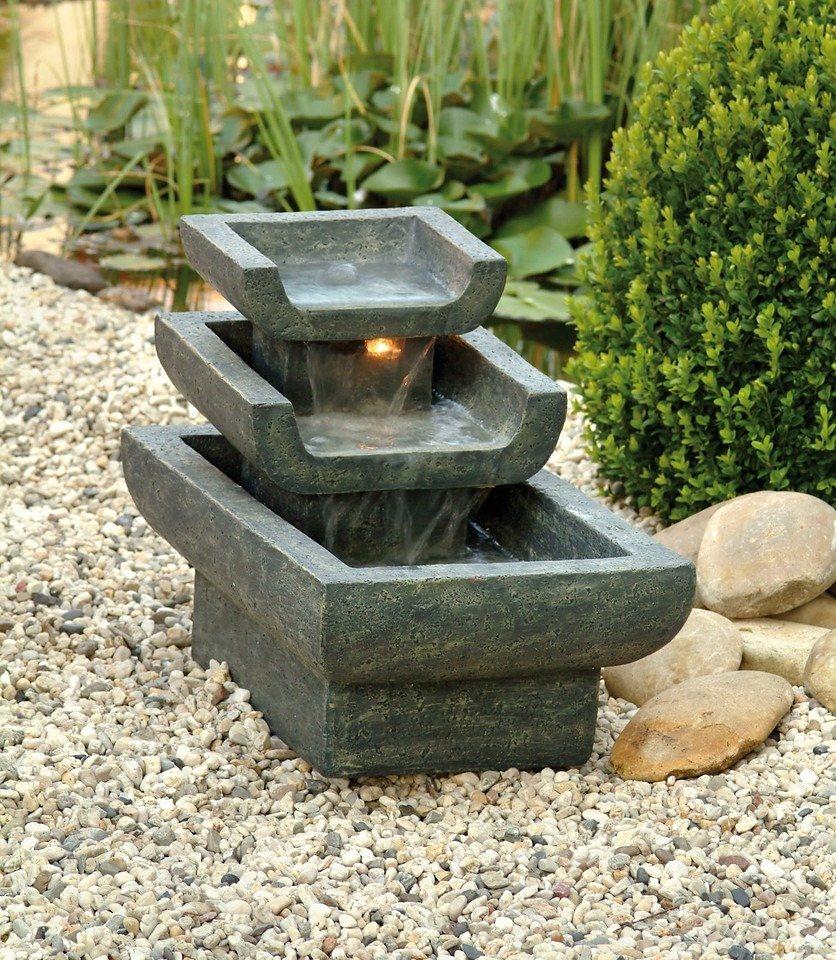 Set: Gartenbrunnen »Tokyo« (6-tlg.) in grau