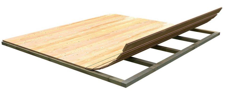 Fußboden für Gartenhäuser, BxT: 340x340 cm in natur