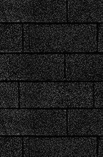 Rechteck-Dachschindeln, schwarz in schwarz