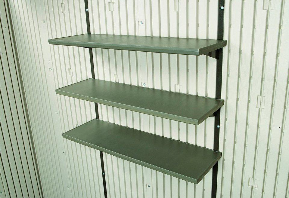 Regal, für Kunstoffhäuser, BxT: 76x25 cm in grau